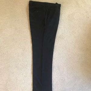 Perry Ellis Portfolio Black Slim Fit Pants